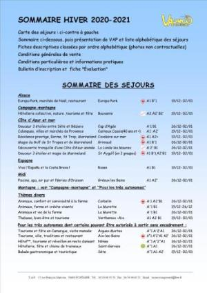 AB) SOMMAIRE HIVER 2020